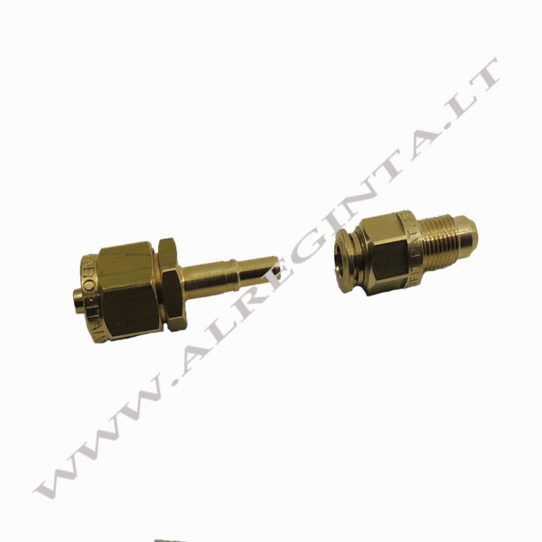 Connector for LPG PCV tube  FASTY FIT fi 6 (external thread)