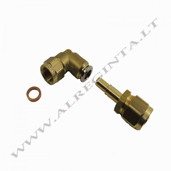 Connector for LPG PCV tube FASTY FIT fi 8 90(internal thread)